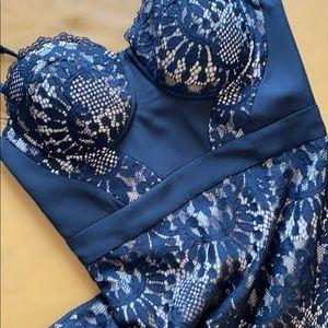 Bebe lace bustier dress